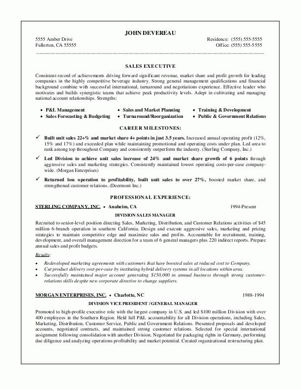 sample resumes, sales management resume
