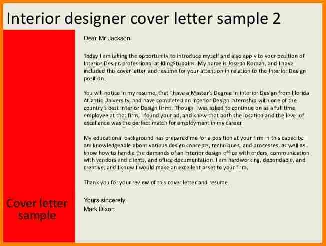 11+ interior design cover letter | budget template