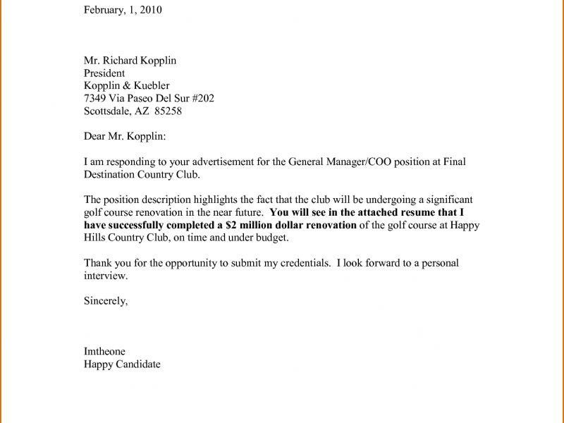 General Cover Letter Format | haadyaooverbayresort.com