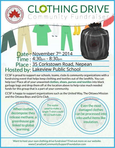 Used Clothing Drive – Fri. Nov. 7 4:30-8:30pm | Lakeview School ...