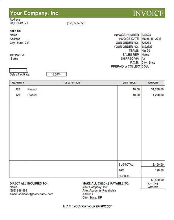 10 Best Images of Commercial Invoice Template PDF - Blank ...