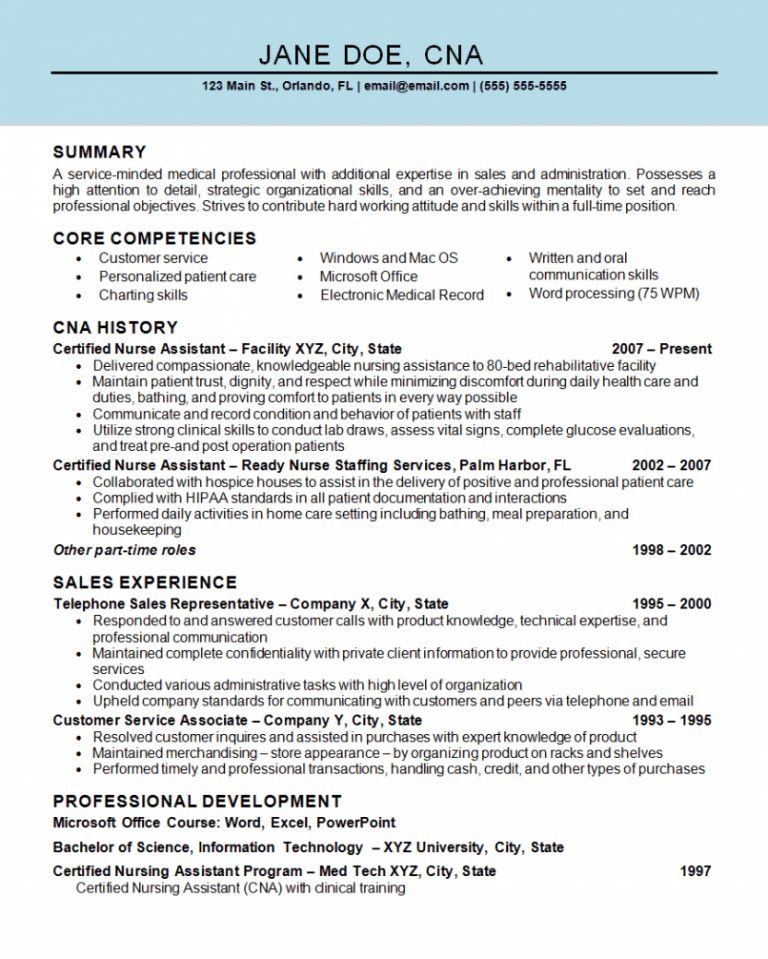 cna resume template template design new cna resume sample cna ...