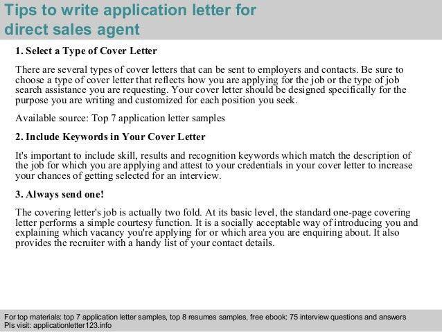 Patriotexpressus Picturesque Direct Sales Agent Application Letter ...
