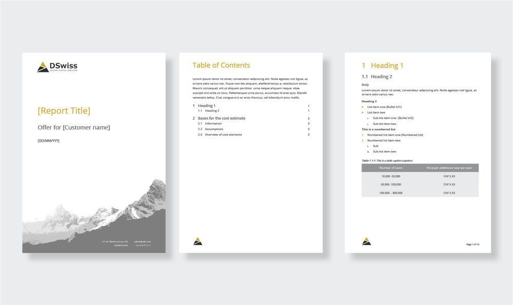Microsoft Office template design — Microcosm | Graphic Design ...