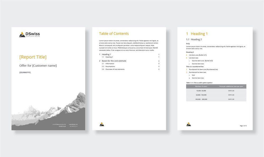 Microsoft Office template design — Microcosm | Graphic Design ...