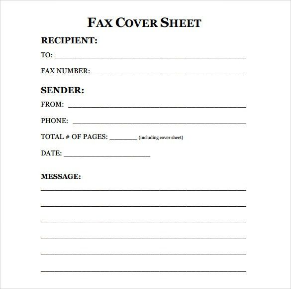 fax resume cover letter fax cover letter template for word to 5