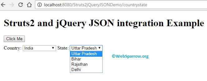 and jQuery JSON integration Example