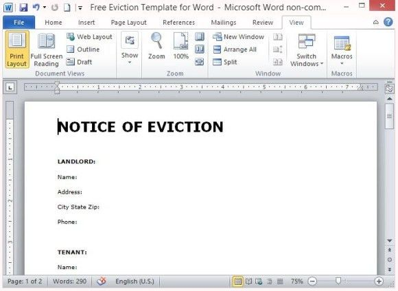 Sample Eviction Notice Template. Sample Separation Notice Template ...