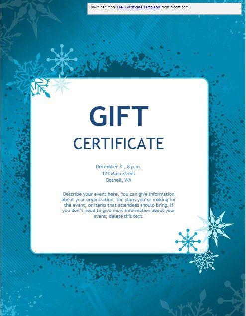 11 Free Sample Christmas Gift Certificate Templates – Printable ...