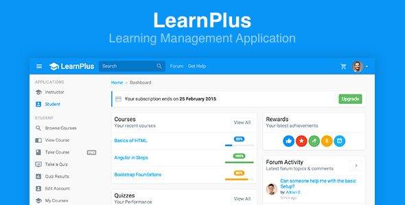 LearnPlus - Learning Management Application by FrontendMatter ...