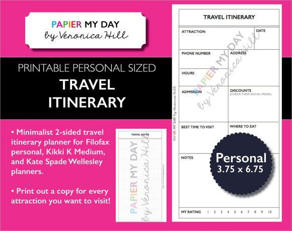 7+Travel Itinerary Samples - PSD, Vector EPS, PDF