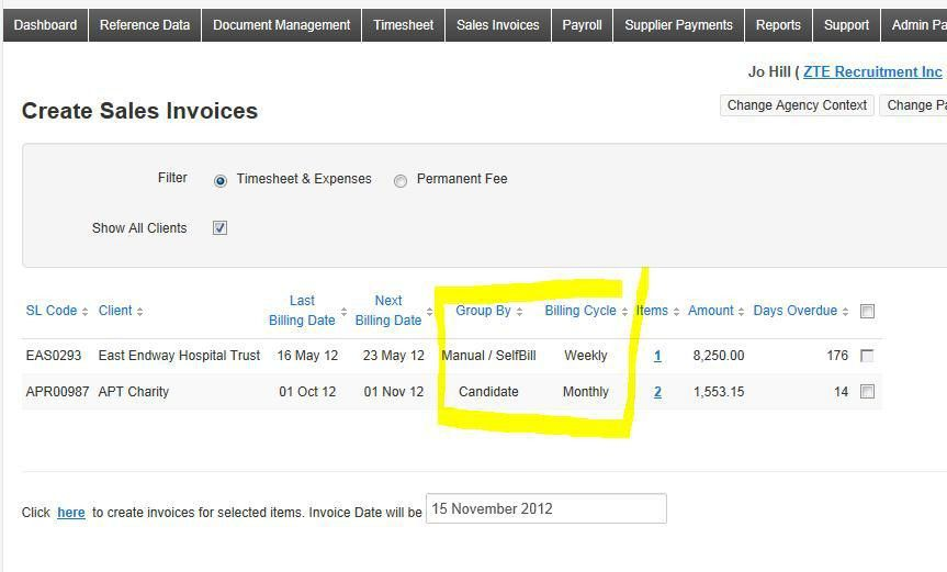 How do Client Billing Cycles and Invoice Grouping options work ...