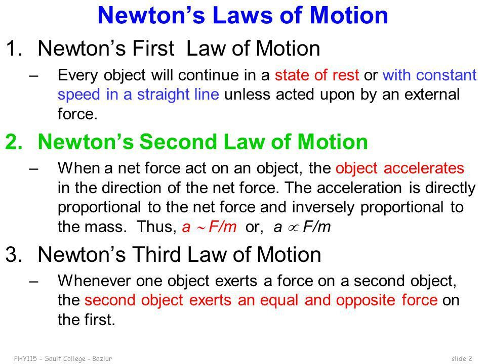 Newton's Second Law of Motion - ppt video online download