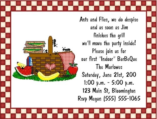 Picnic Invitation Wording