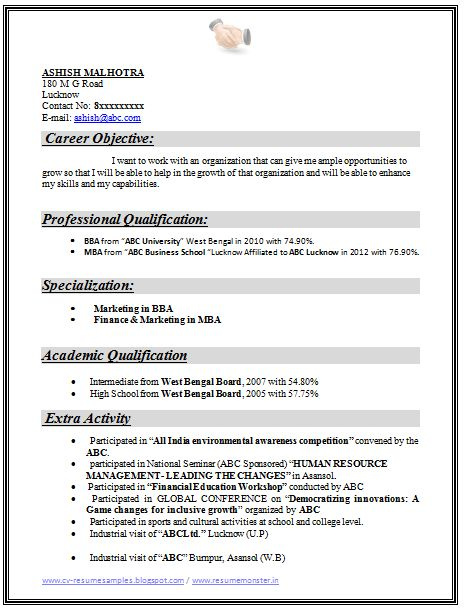 Example Template of an Excellent MBA Finance & Marketing Resume ...