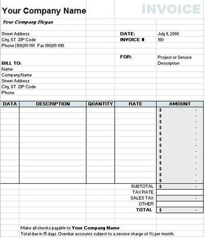 Xls Invoice Template Free ⋆ Invoice Template
