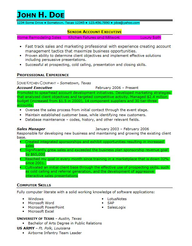 Prior Military Resume Example