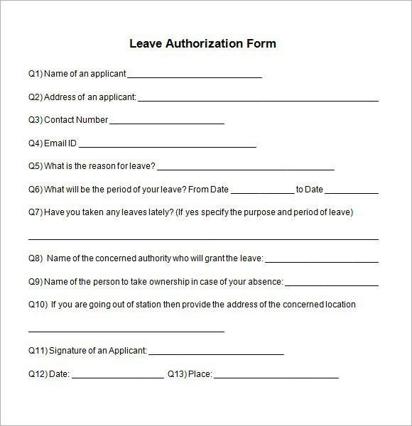 Leave Request Form Sample [Template.billybullock.us ]