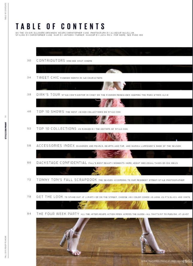 82 best Magazines: contents page designs images on Pinterest ...
