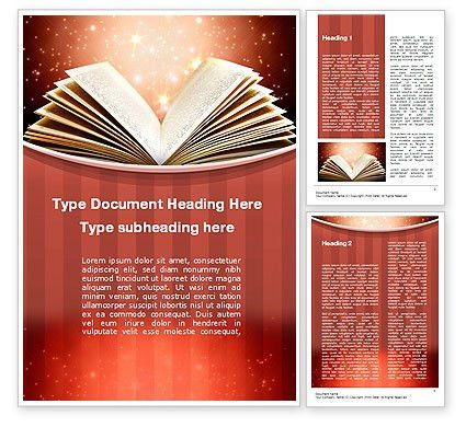 Magic Book Word Template 10421 | PoweredTemplate.com