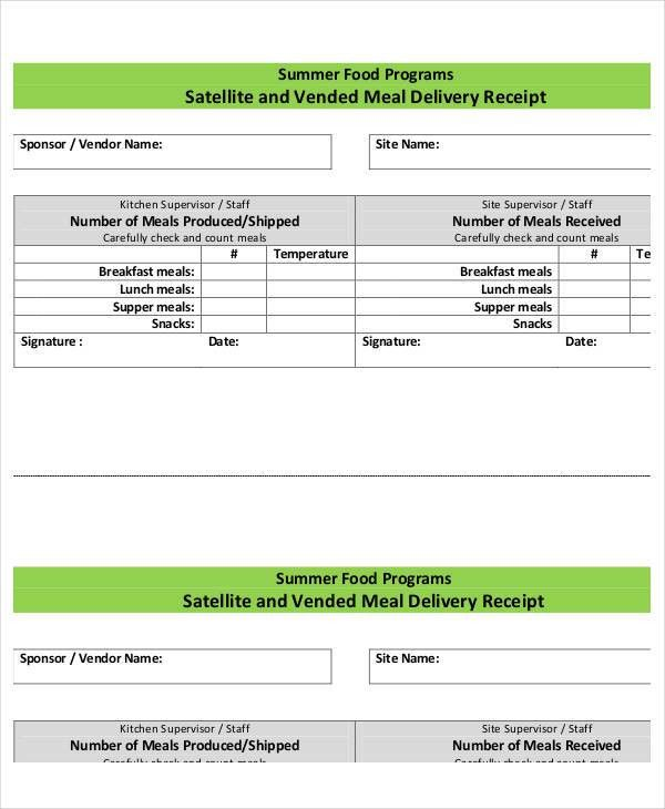 31+ Receipt Form Templates