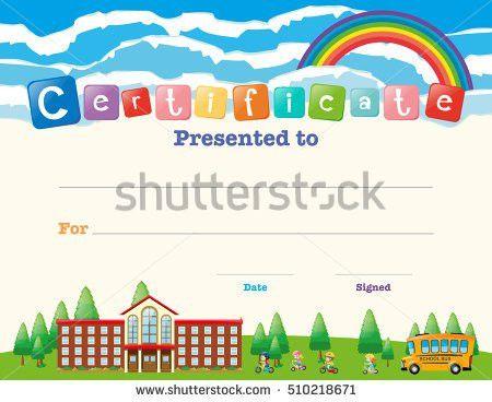 School Bus Certificate Stock Vector 505135921 - Shutterstock