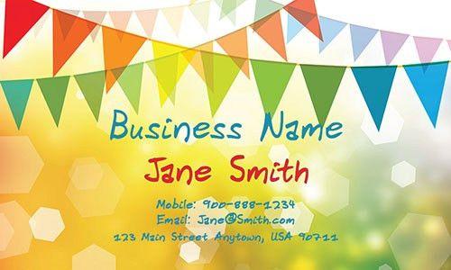 Child Care Business Cards | Free Templates | PrintifyCards.com