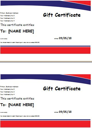 Hotel Gift Certificate Template | Document Hub