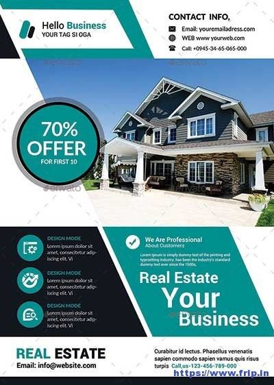 50 Best Real Estate Flyer Print Templates 2017   Frip.in