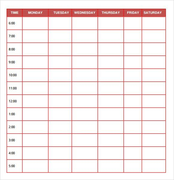 Free Daily Planner Templates - Free Printables Word Excel