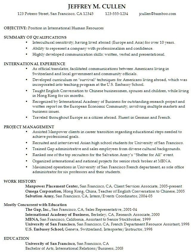 Download Sample Resumes For College Students ...