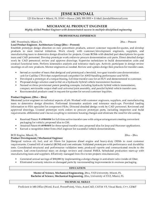 Good looking Software Engineer Resume Sample and Mechanical ...