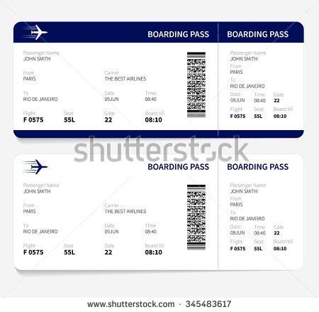 Vector Image Airline Boarding Pass Tickets Stock Vector 174989354 ...