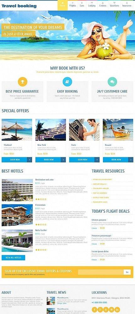 Website Templates Airline Tickets Templates Custom Website ...