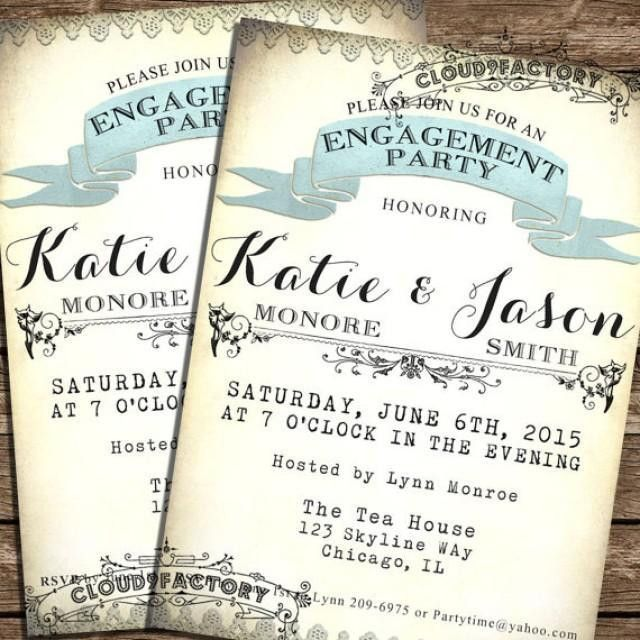 Marvelous Free Printable Engagement Party Invitations Teal Inside ...