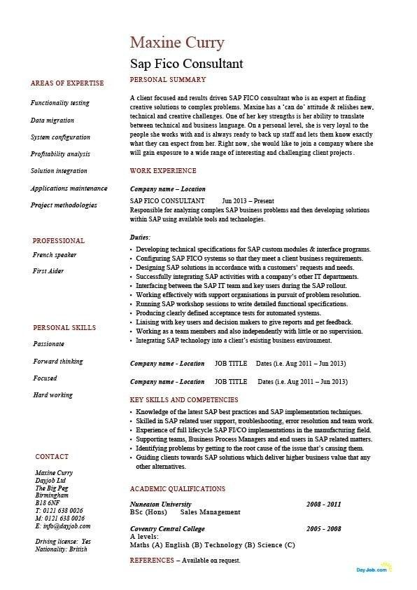 sample sap mm consultant cover letter network support analyst