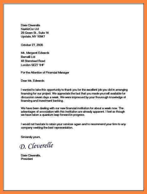 Sample Business Letters. Example Of Simple Business Letter ...