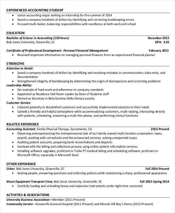 43+ Free Accountant Resume | Free & Premium Templates