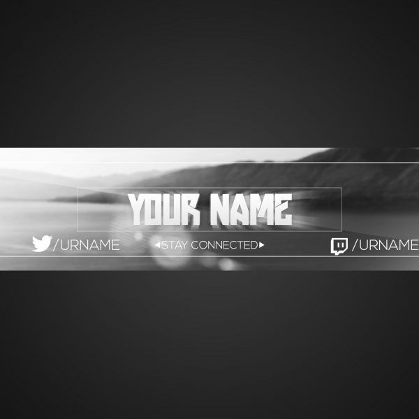 Youtube Banner Template   Photoshop Cs6   Free Download   Black in ...
