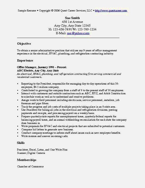 best general resume profile examples resume template for free
