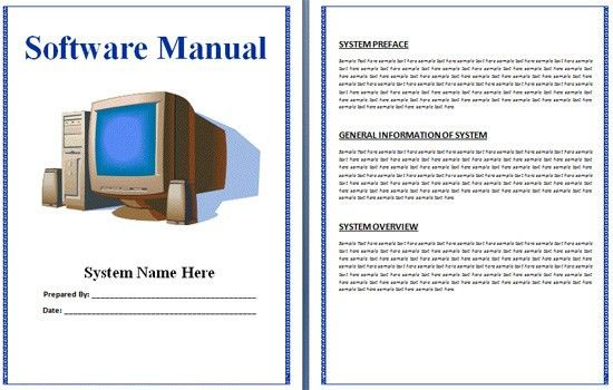 Boring Work Made Easy: Free Templates For Creating Manuals   Noupe  Free User Guide Template