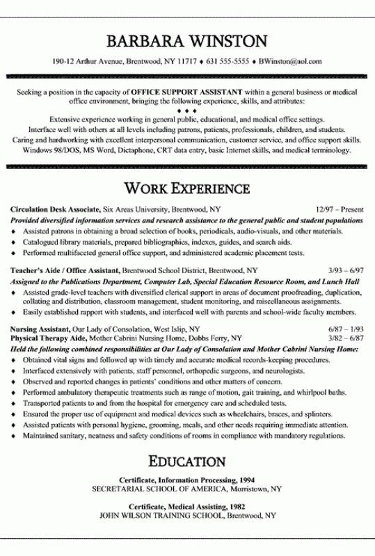 Medical Assistant Resume Summary – Resume Examples
