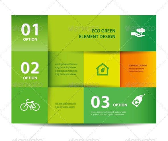 Vector Paper Eco Element And Design Template by kaisorn | GraphicRiver