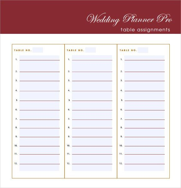 Sample Guest List. 6 Free Wedding Guest List Templates - Excel Pdf ...