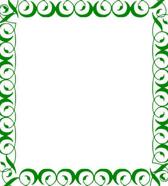 Green, Lime, Edge, Ornamented, Decorated, Frame, Design, Project ...