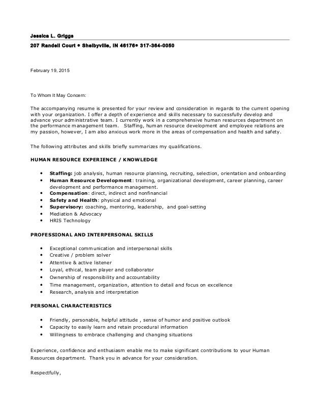Letter of Intent HR