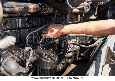 Portrait Car Mechanic Woman Repairing Electronic Stock Photo ...