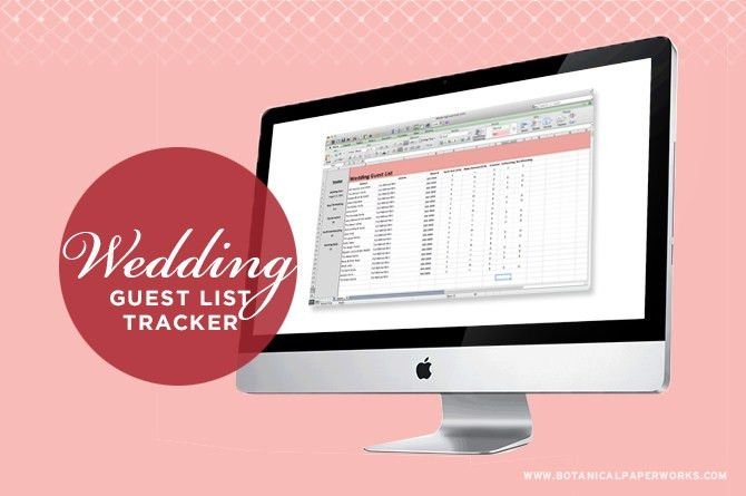 freebie} Wedding Guest List Tracker | Blog | Botanical PaperWorks