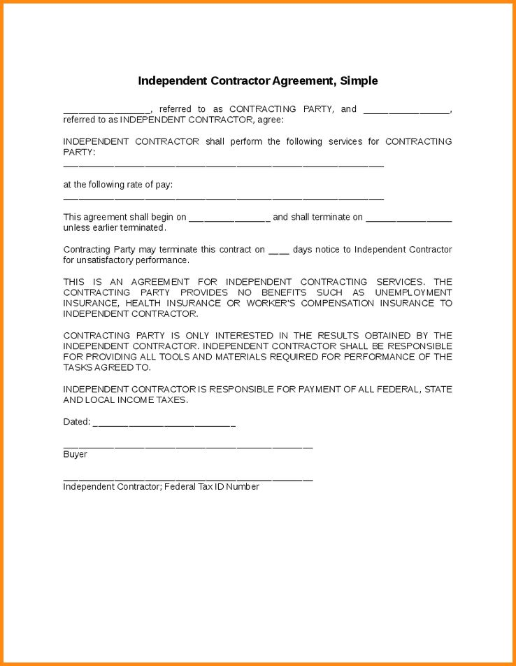 7+ simple contractor agreement | workout spreadsheet
