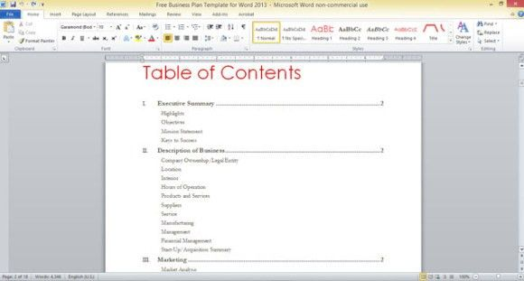 powerpoint table of contents template powerpoint diagram for ...